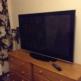 "Samsung 50"" inch plasma television tv with remote control"