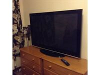 "Samsung 50"" inch plasma television tv with remote control"