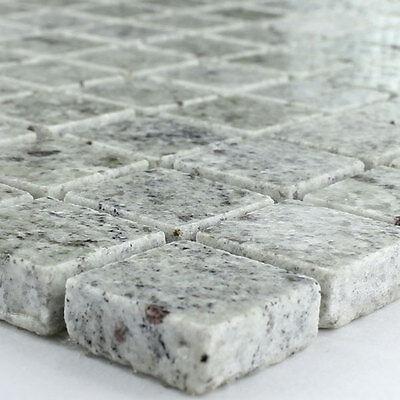 Weißen Granit-fliesen (Granit Mosaik Fliesen 23x23x8mm Grau Weiss)