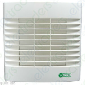 Airvent 459318A Extractor Fan with Humidistat/Pullcord & Automatic Shutter 100mm