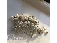 Bridal hair Comb, pearls and crystals by Jon Richards at Debenhams