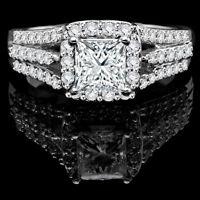 14k Gold Diamond Engagement Ring 2.45CTW Bague de Fiançailles