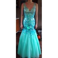 Tony bowls fish tale prom dress