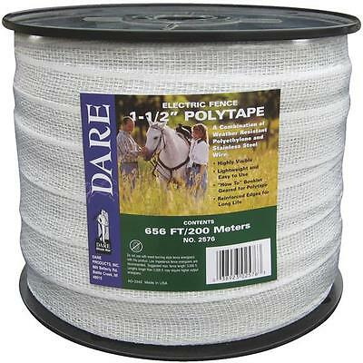 2 Pk Dare 1-12 Wide X 656 Long Electric Fence 5 Strand Steel Poly Tape 2576n