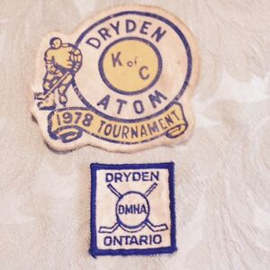 Vintage Dryden hockey patches