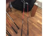 2 X graphite golf clubs Dunlop 5 iron and 5 fairway wood 18* with head cover