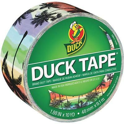 Duck Tape 1.88 In. X 10 Yd. X 9 Mil Sunset Strip Printed Duct Tape 283930