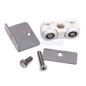 Bathroom-Shower-Hanging-Wheel-Sliding-Door-Roller-Pulley-w-Door-Clamp-Screws