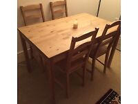 Ikea JOKKMOKK Table and 4 chairs, antique stain 50 pounds
