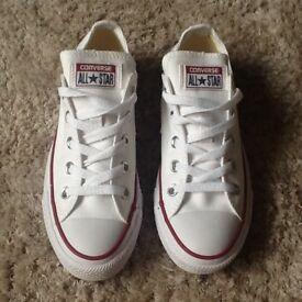 Genuine White CONVERSE All Star Size 4 - Brand New