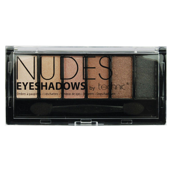 Technic 6pc Nudes Eyeshadows Palette Double ended applicator
