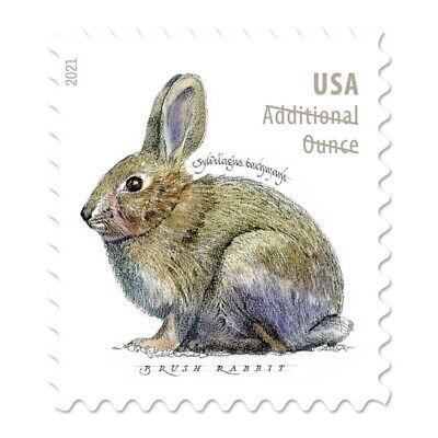 USPS New Brush Rabbit Additional Ounce Pane of 20