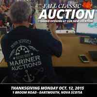 5th Annual Fall Classic Auction & Grand Opening Oct. 12, 2015