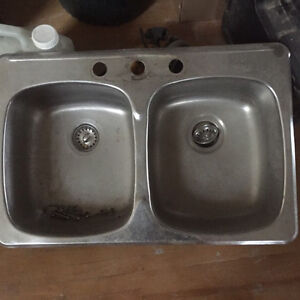Double sink for sale with 3 holes