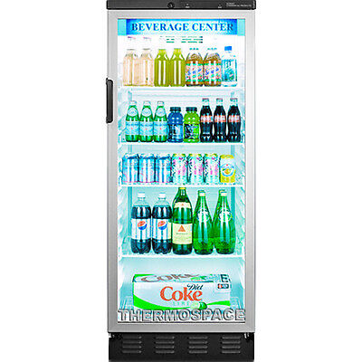 Commercial Reach-in Glass Door Refrigerator Beverage Cooler Merchandiser Fridge