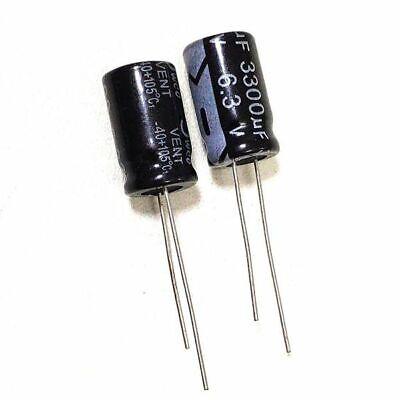 10pcs 6.3v 3300uf 6.3volt 3300mfd 105c Aluminum Electrolytic Capacitor 1016mm