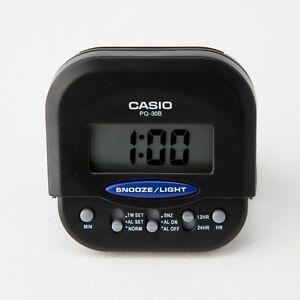 casio pq30b 1 black compact digital beep black alarm clock. Black Bedroom Furniture Sets. Home Design Ideas