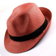 Women's Straw Fedora Summer