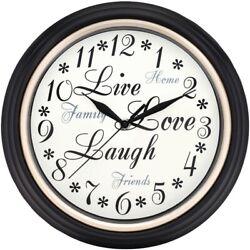 Westclox 12 Round Live Love Laugh Message Clock  (32032)