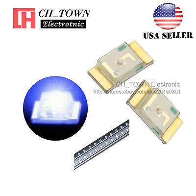 100pcs 1206 3216 Blue Light Smd Smt Led Diodes Emitting Ultra Bright Usa