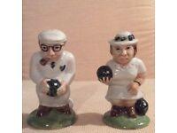 Collectable vintage CC HP Salt & Pepper Shakers Bowls Couple