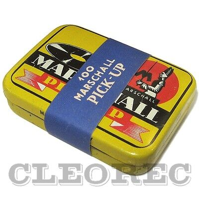 100 ORIGINAL Marschall Grammophonnadeln Nr14 in PICK UP Dose - steel needles tin