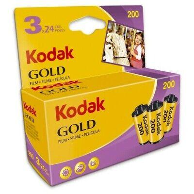 3 x Genuine Kodak Gold 200 Film Pack 135 35mm (24 Exposures) Long Expiry -02/22