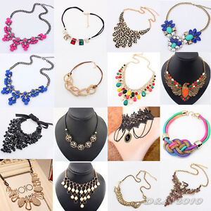 Fashion-Womens-Bib-Statement-Vintage-Necklace-Chain-Jewelry-Chunky-Collar-Party