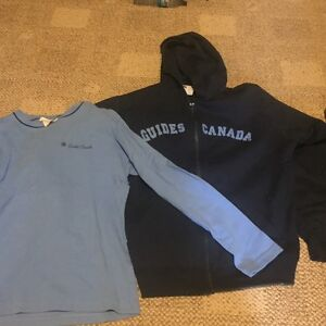 Girl guides hoodie and long sleeve shirt
