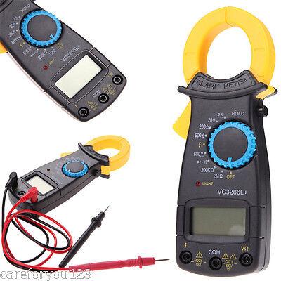 Handheld Lcd Digital Clamp Multimeter Tester Meter Electronic Ac Dc Volt Amp Ohm