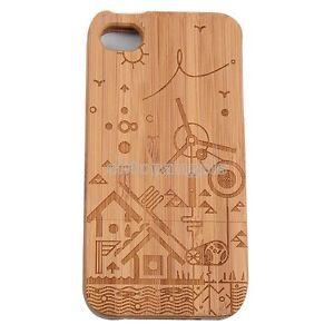 Hot Popular Bamboo Wood Wooden Hard Back Case Cover Skin  for iPhone 4/4S 5/5S
