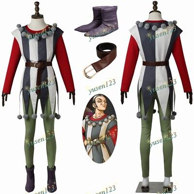 New DQ11 Dragon Quest XI Silva Actor Halloween Cosplay Costume Comic Con Outfit