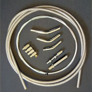 Yamaha Cruiser V-Star Road Star Braided Stainless Clutch Cable Kit 78 Inch