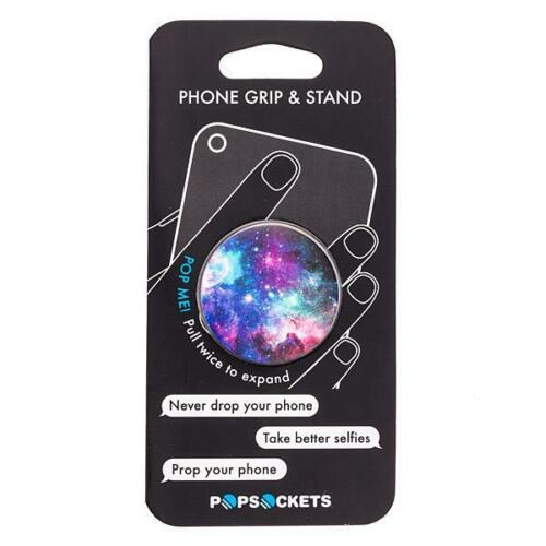 PopSockets Expanding Stand and Grip for Smartphones Tablets Blue Nebula Galaxy