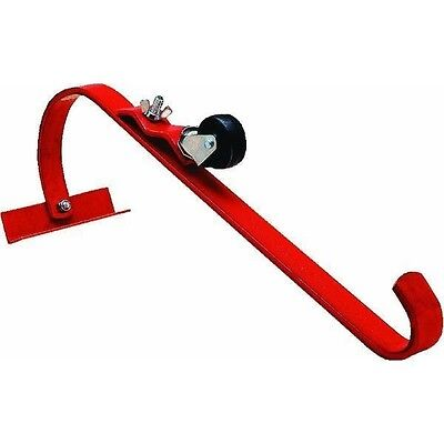 QualCraft 2481 Steel Ladder Jack Hook w/ Roller Roofing Protection (Single)