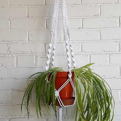 Easy DIY Macrame Kit Plant Pot Holder, Chunky Rope Hanger, Cord Retro Knotting - Macrame Plant Hanger Diy