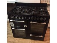 LEISURE Cookmaster CK100G232K Gas Range Cooker - Black & Chrome