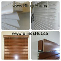 BLINDS 100% Solid Wood  .window blind .