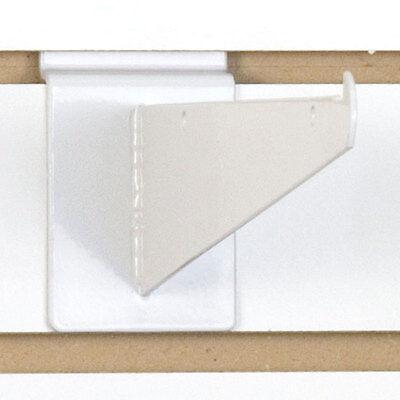 Heavy Duty Slatwall Shelf Bracket In White 8 Inch - Box Of 8
