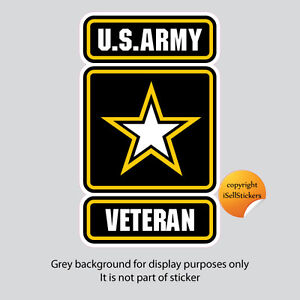 AR-2122  Army Veteran Military Car Bumper Sticker Vinyl Window Decal
