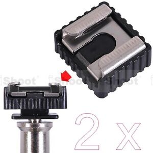 2x-Standard-1-4-Screw-Hole-Cold-Foot-to-Hot-Shoe-Mount-Adapter-for-Canon-Flash
