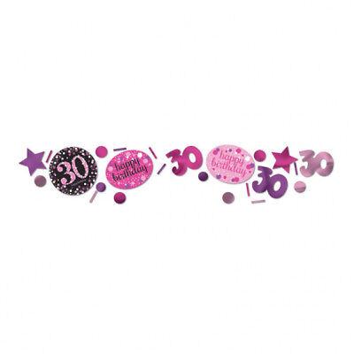 30. Geburtstag Party Deko Konfetti Happy Birthday pink - Birthday Party Dekorationen