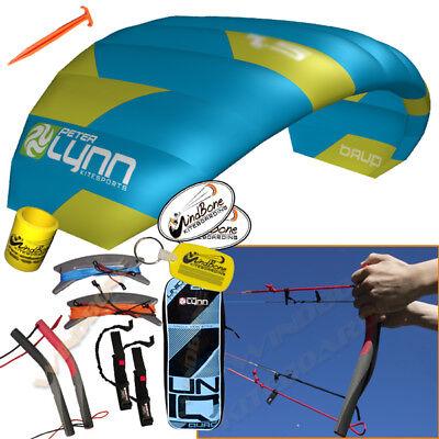 Peter Lynn UNIQ Quad 2.5M 2.5 M Single Skin Power Trainer Kite 4-Line Handles for sale  Dunellen