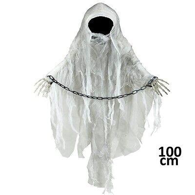 DEKOFIGUR GEIST mit Handschellen 90 cm Halloween Raumdeko - Halloween Handschellen