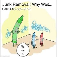 Junk Removal Call TODAY, GONE TODAY 416-562-9395 Why wait!
