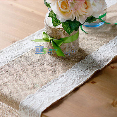 Diy Burlap Table Runner (Burlap Hessian Wedding Table Runner Natural Jute Party Dining DIY)