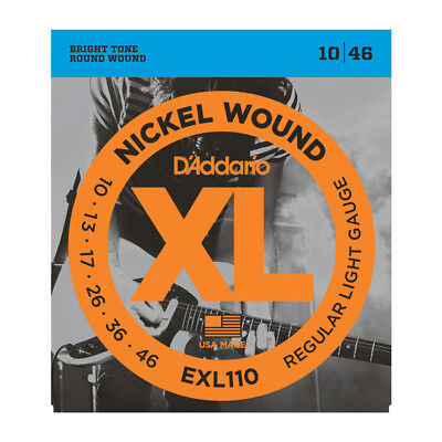 D'Addario EXL110 Nickel Wound Regular Light Electric Guitar Strings .010-.046 ()