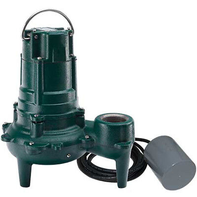 Zoeller Be267-0054 - 12 Hp Cast Iron Sewage Pump W Piggyback Tether Float ...