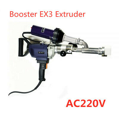 Plastic Extrusion Welding Machine Hot Air Welder Gun Booster Ex3 Extruder Ac220v