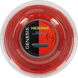 GENESIS HEXONIC 1.18 TENNIS STRING REEL , 200 M , NEW